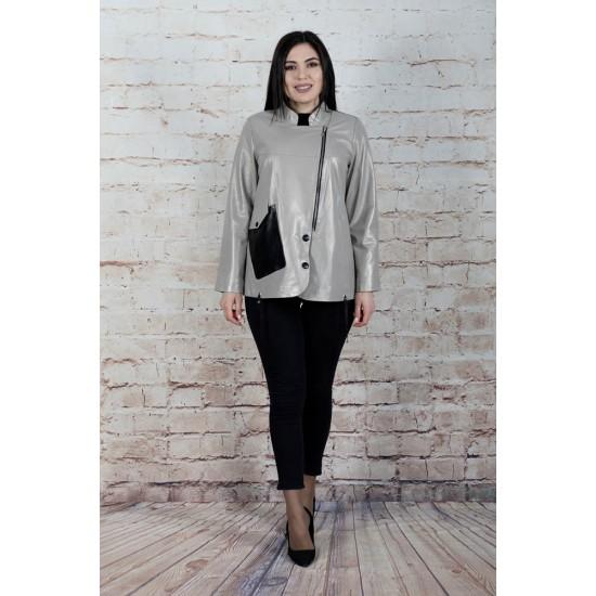 3013, Куртка женская из натуральной кожи с воротником