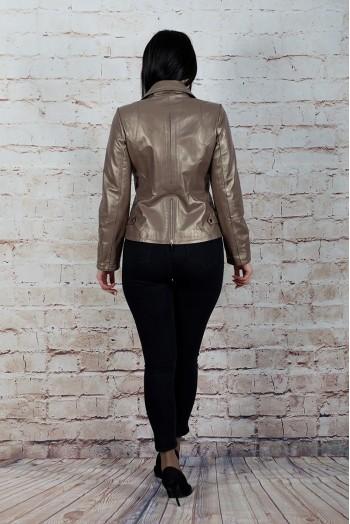 A-127, Куртка женская из натуральной кожи с воротником