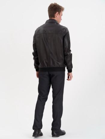 676 Бриони, Куртка мужская кожаная, воротник