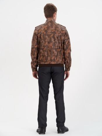 699 Джеймс, Куртка мужская кожаная, воротник
