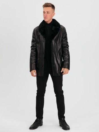 762 Чарльз, Куртка мужская из натуральной кожи, воротник английский