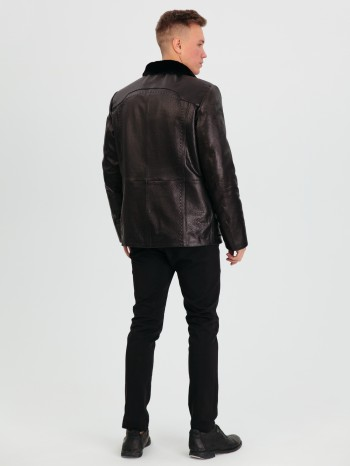 842 Эрик, Куртка мужская из натуральной кожи, воротник стойка