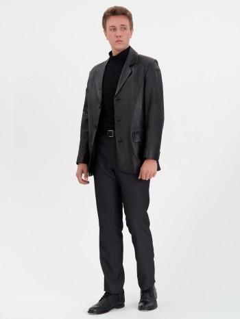 Д-9114, Пиджак мужской кожаный, воротник