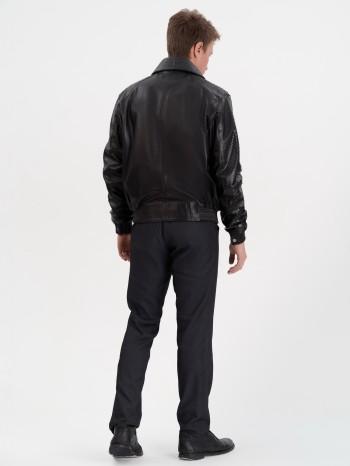 Д-Куртка, Куртка мужская кожаная с воротником (съемный)