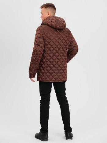 1028 Симон, Двухсторонняя куртка мужская, овчина - астраган - полиэстер, капюшон