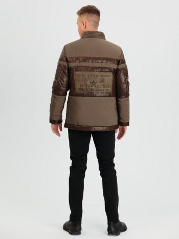 1036, Куртка мужская из натуральной кожи, воротник