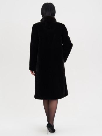 Аксинья-153, Пальто женское из овчины-мутона, воротник стойка, кокетка норка, отд.каракуль