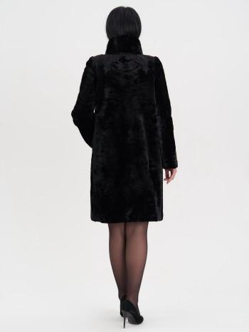 Алла-1670, Пальто женское из овчины-мутона, воротник норка, отд.каракуль