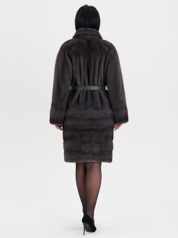 МН-715-142-Н, Шуба женская из меха норки с воротником шалька